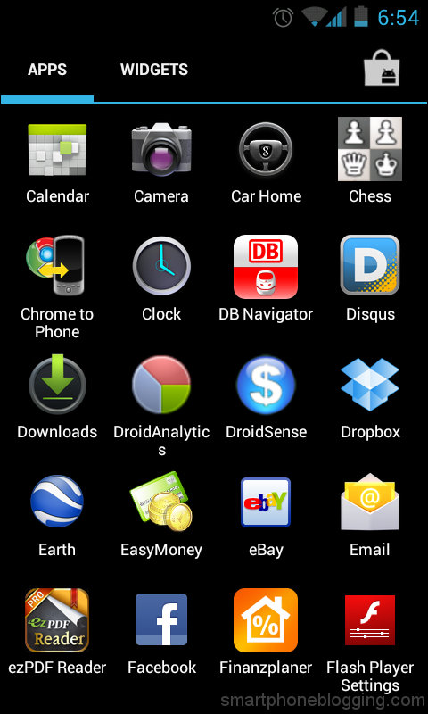 android mobile applications list