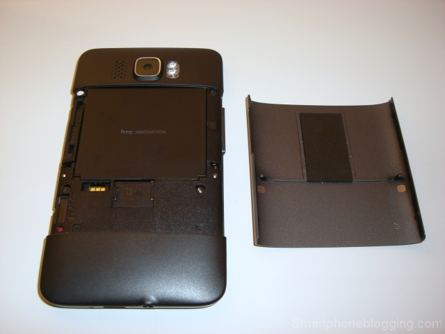 htc hd2 backcover open