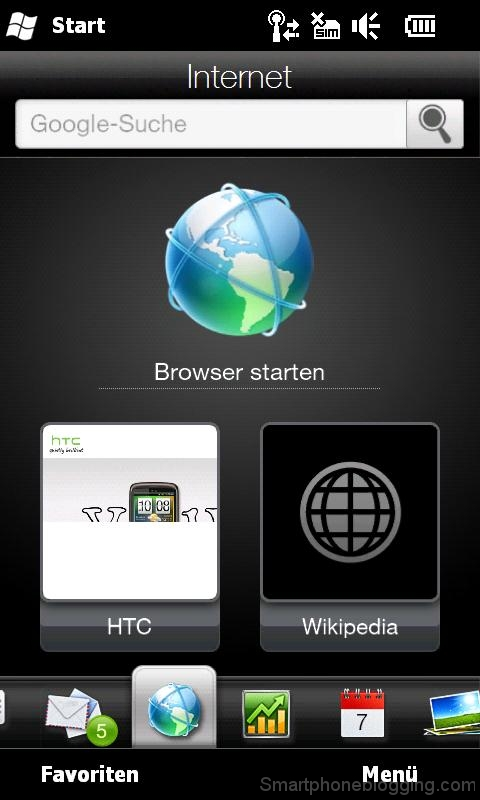 hd2 htc sense browser tab