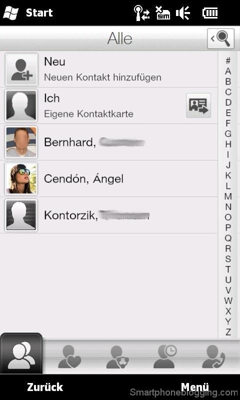 hd2 htc sense contacts app