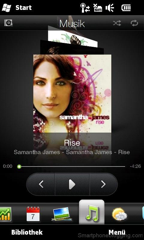 hd2 htc sense music tab