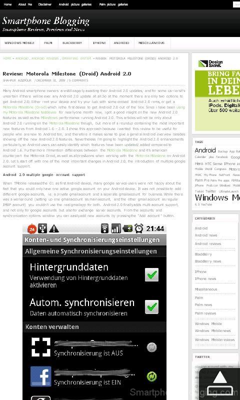 hd2 htc sense opera browser blog article
