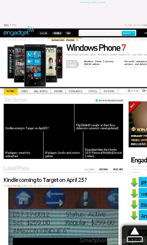 hd2 htc sense opera browser engadget