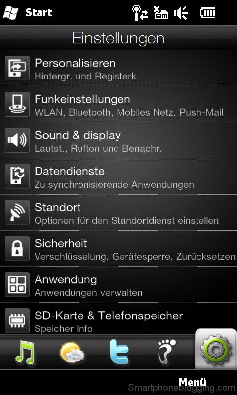 hd2 htc sense settings tab