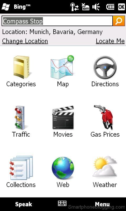 htc hd2 windowsmobile bing search