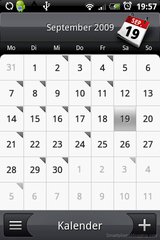 HTC Sense calendar app month view