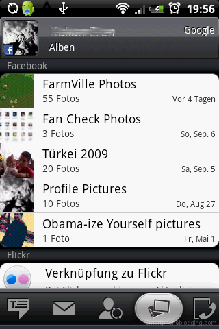 HTC Sense contacts app facebook album