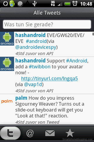 HTC Sense twitter app