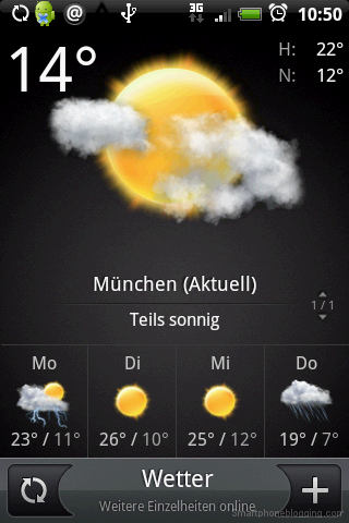 HTC Sense weather app