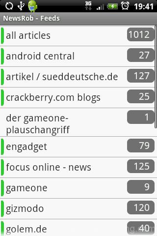 NewsRob feeds list