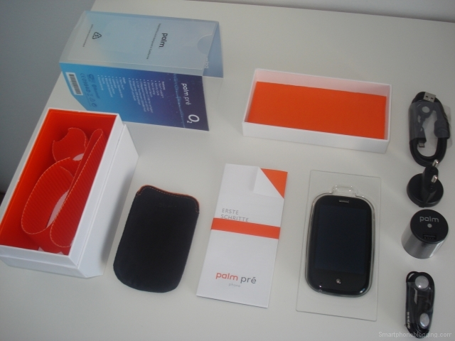 Palm Pre packaging opened