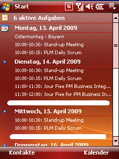 Calendar plus on today screen