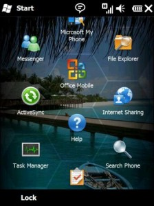 Windows Mobile 6.5 start menu
