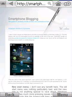 Skyfire startpage Windows Mobile