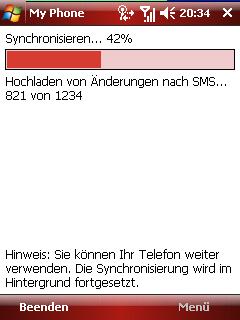 MyPhone sms sync