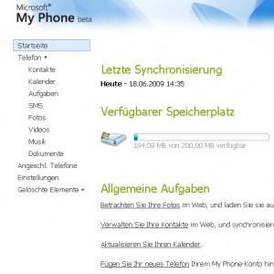 MyPhone startpage