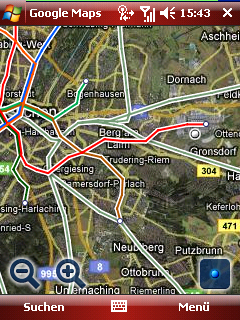 Google Maps public transportation layer