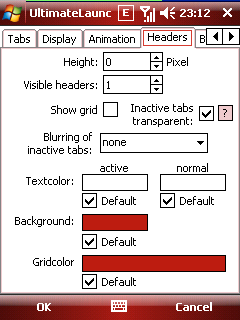 ultimatelauncher headers options