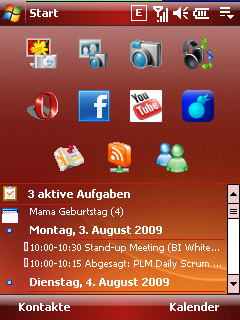 Windows Mobile Today Screen