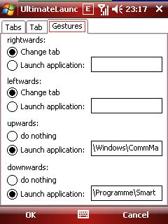 ultimatelauncher tab gestures